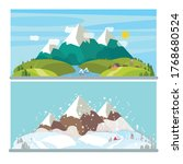 landscapes of the alps. view of ... | Shutterstock .eps vector #1768680524