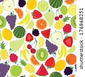 seamless pattern from fruits | Shutterstock . vector #176868251