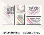 card template pastel color... | Shutterstock .eps vector #1768684787