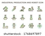 industrial production work and... | Shutterstock .eps vector #1768697897