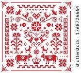 retro austrian and german cross ... | Shutterstock .eps vector #1768726664