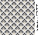gray geometric seamless texture.... | Shutterstock . vector #176872775