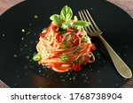 Italian Pasta With Red Hot...