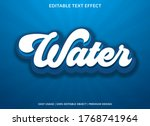 water text effect template with ... | Shutterstock .eps vector #1768741964