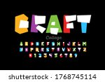 paper collage style font design ... | Shutterstock .eps vector #1768745114