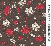 seamless cartoon floral pattern ... | Shutterstock . vector #176874671