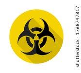 danger icon.biohazard caution... | Shutterstock .eps vector #1768747817