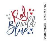 red wild blue   happy... | Shutterstock .eps vector #1768755707