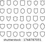 police badge shape. 40 icons...   Shutterstock .eps vector #1768787051
