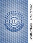 Phial Blue Emblem With...