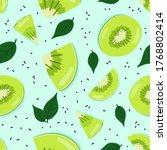 fresh kiwi seamless pattern ...   Shutterstock .eps vector #1768802414