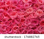 Stock photo pink roses background 176882765