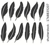bird feather icon  writing... | Shutterstock .eps vector #1768835207