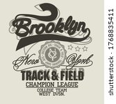 brooklyn t shirt graphics. new... | Shutterstock .eps vector #1768835411