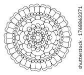 easy mandala  zen meditation... | Shutterstock .eps vector #1768863371