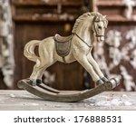 Vintage Old Rocking Horse On A...