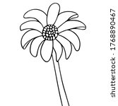 gerber. vector illustration.... | Shutterstock .eps vector #1768890467