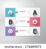 modern design jigsaw style... | Shutterstock .eps vector #176889875
