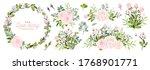 set of floral branch. flower... | Shutterstock .eps vector #1768901771