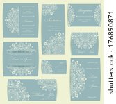 wedding invitation card with...   Shutterstock .eps vector #176890871