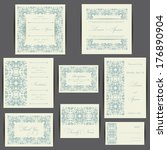 wedding invitation card with... | Shutterstock .eps vector #176890904