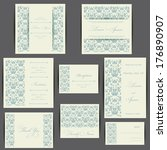 wedding invitation card with... | Shutterstock .eps vector #176890907