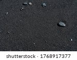 black sand beach with pebble... | Shutterstock . vector #1768917377