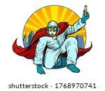superhero doctor man with a... | Shutterstock .eps vector #1768970741