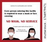 wear face mask sign and symbol. ... | Shutterstock .eps vector #1768979471