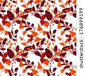 seamless floral pattern autumn... | Shutterstock . vector #176899199