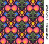 floral vector seamless pattern. ... | Shutterstock .eps vector #176901035