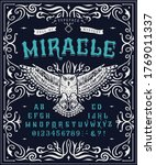 font miracle. craft retro... | Shutterstock .eps vector #1769011337