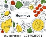 hummus cooking and ingredients... | Shutterstock .eps vector #1769025071