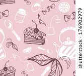 beautiful seamless pattern with ... | Shutterstock .eps vector #176902979