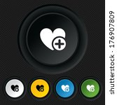 heart sign icon. add lover... | Shutterstock .eps vector #176907809