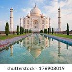 taj mahal in sunrise light ... | Shutterstock . vector #176908019