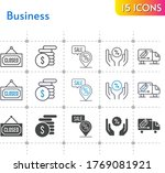 business icon set. included...