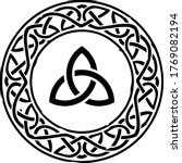 black celtic ring with a...