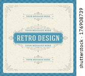retro typographic design... | Shutterstock .eps vector #176908739