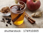 hot apple punch with cinnamon | Shutterstock . vector #176910305