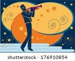 trumpet artist | Shutterstock .eps vector #176910854