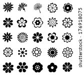 flower vector set  flora icon ... | Shutterstock .eps vector #176918075