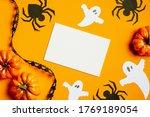Halloween Greeting Card Mockup...