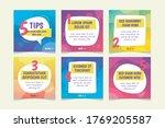 colorful social media post... | Shutterstock .eps vector #1769205587