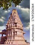 A Closeup Of A Hindu Temple...