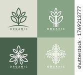 vector logo set of leaf plant   Shutterstock .eps vector #1769213777