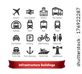 infrastructure buildings icon... | Shutterstock .eps vector #176922287