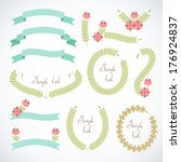 set of retro ribbons and frames. | Shutterstock .eps vector #176924837