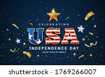 usa word text  american flag... | Shutterstock .eps vector #1769266007
