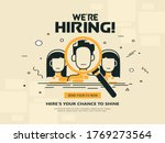 We Are Hiring Vector Background....